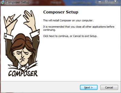 phpの依存性管理ツール[composer(コンポーサー)]をwindows10にインストール ステップ02