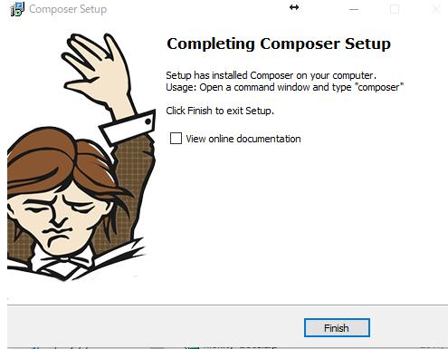 phpの依存性管理ツール[composer(コンポーサー)]をwindows10にインストール ステップ09