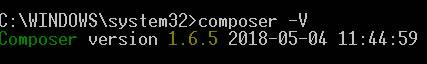 phpの依存性管理ツール[composer(コンポーサー)]をwindows10にインストール完了